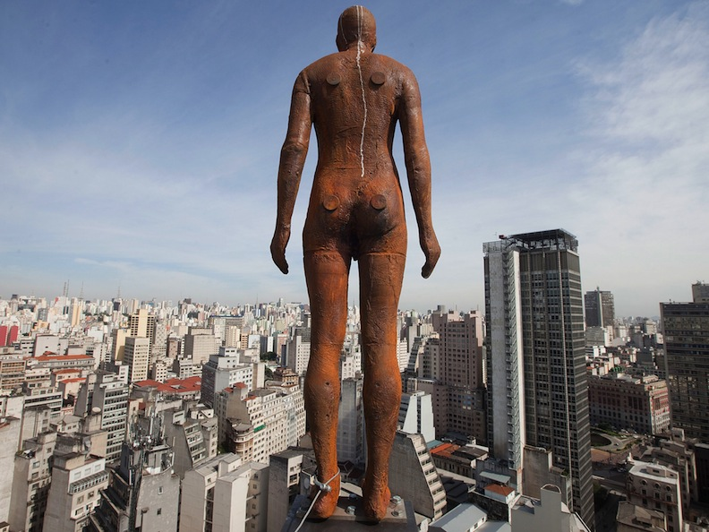 "Antony Gormley's ""Event Horizon"" statue in São Paulo, 2012"