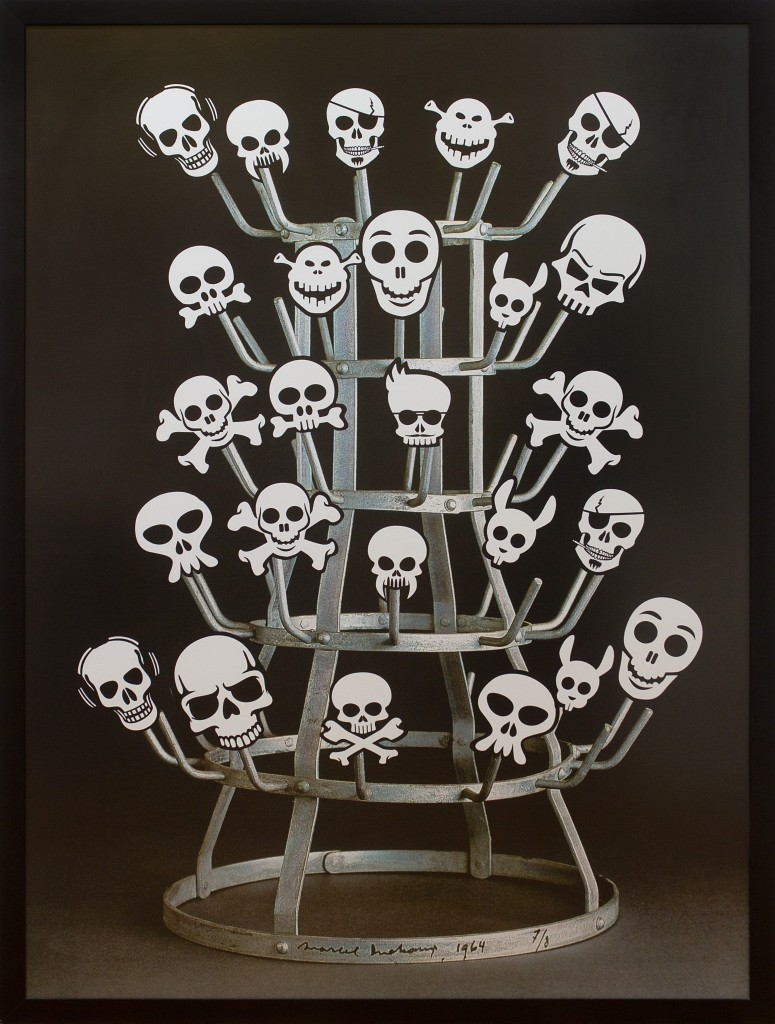 "Nelson Leirner, ""Duchamp Rack"", 2011, 160 x 120CM, photography"